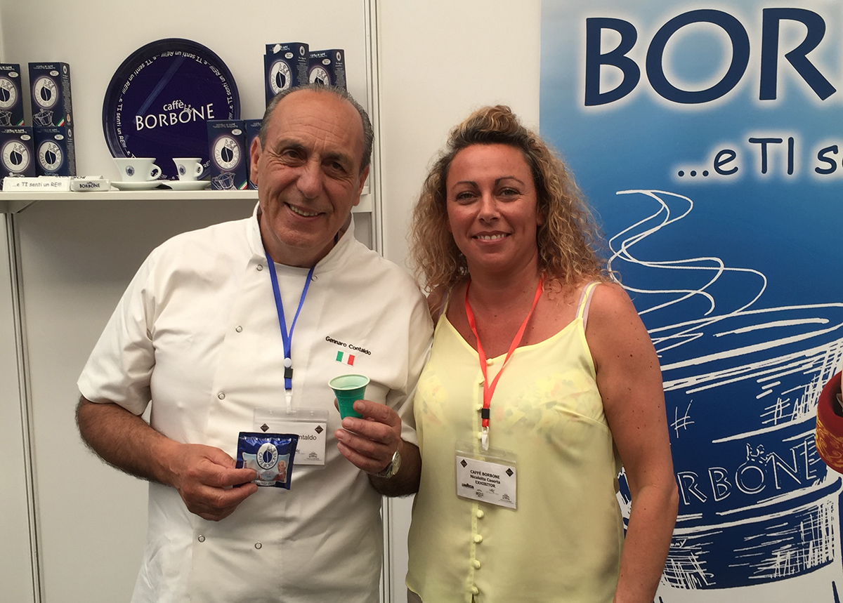 Nicoletta and chef Gennaro Contaldo